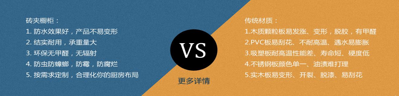 砖砌橱柜vs传统橱柜