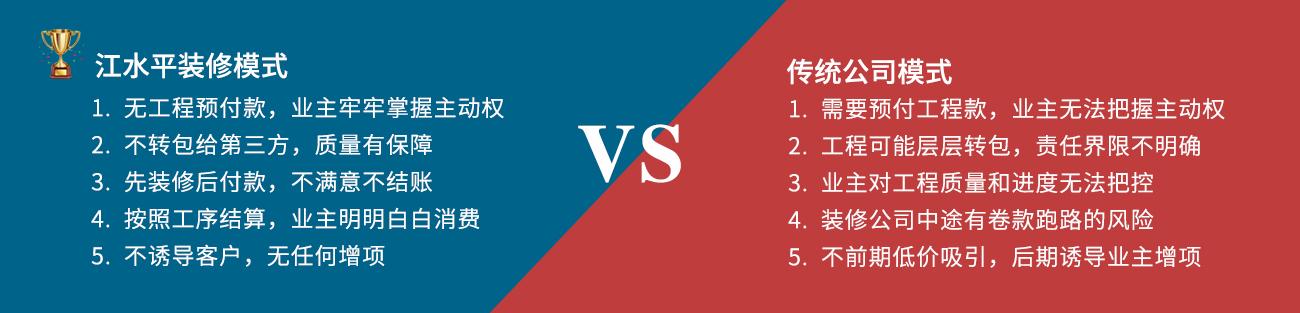 江水平装修vs传统公司装修